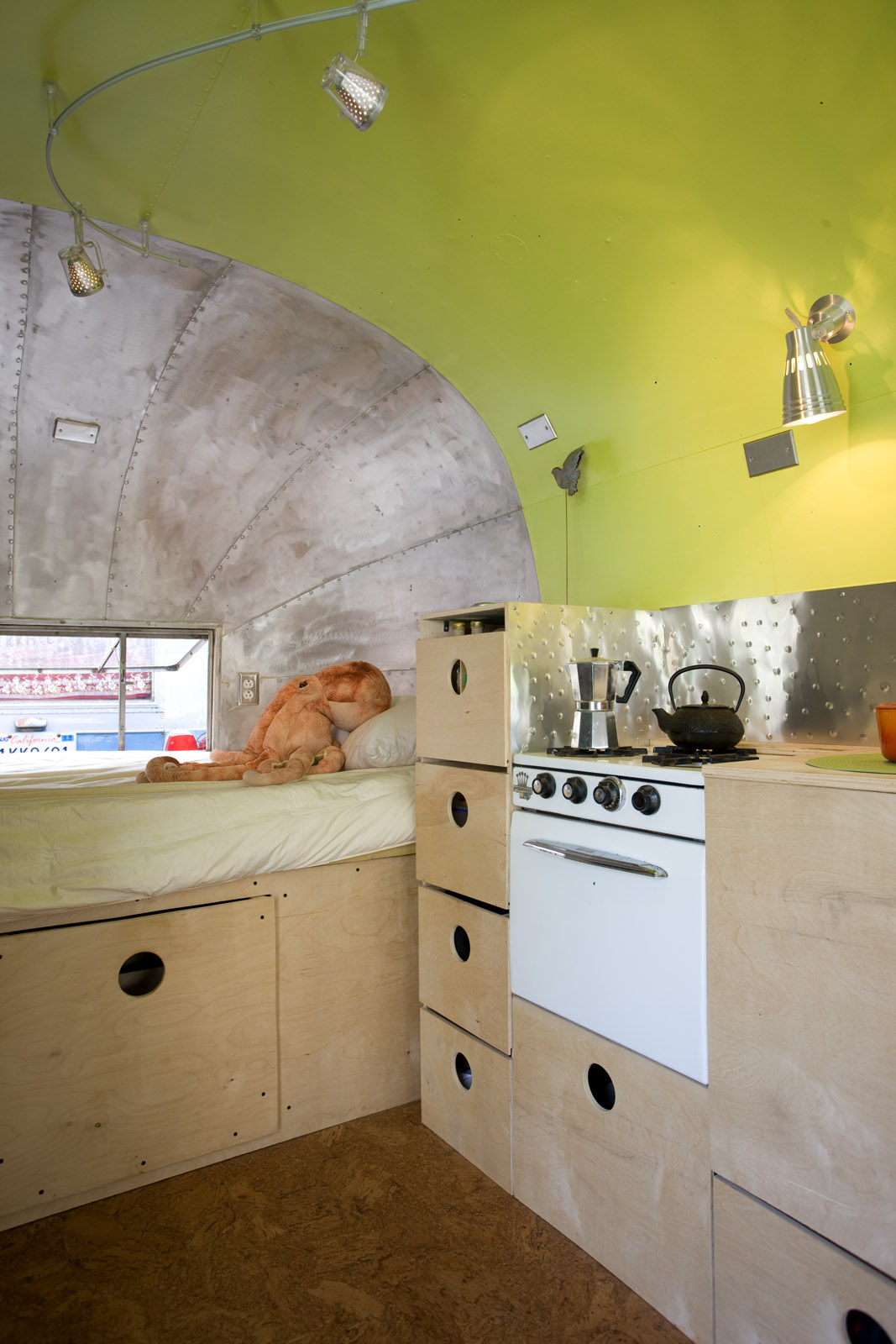 Old appliances were cleverly incorporated. Image Source: Dwell