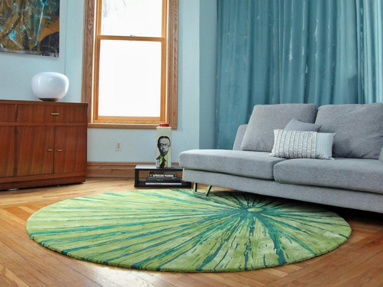 The color and design of your living room area rug should complement your walls as well as your furniture.