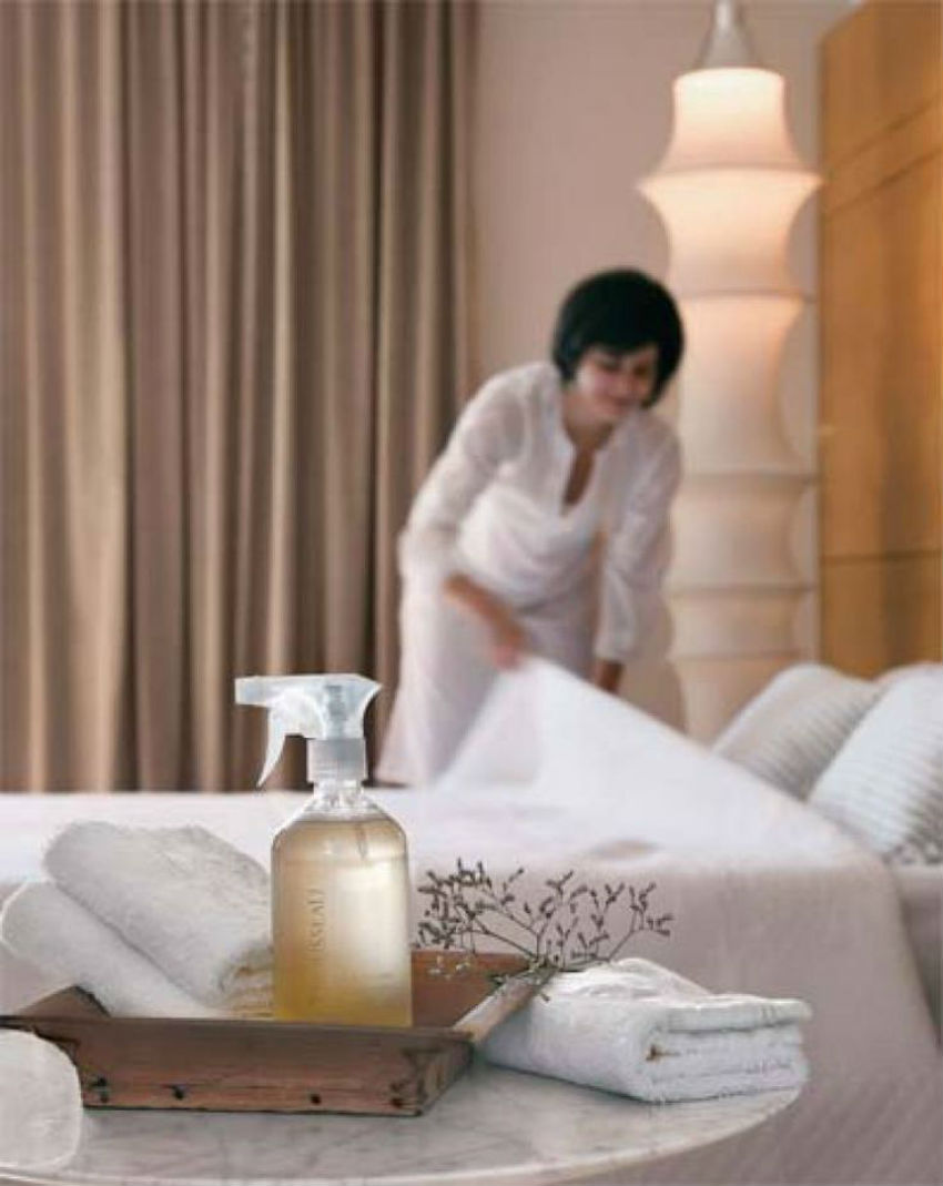 Sheets fragrance can help you have a better sleep. Image Source: Casa Abril
