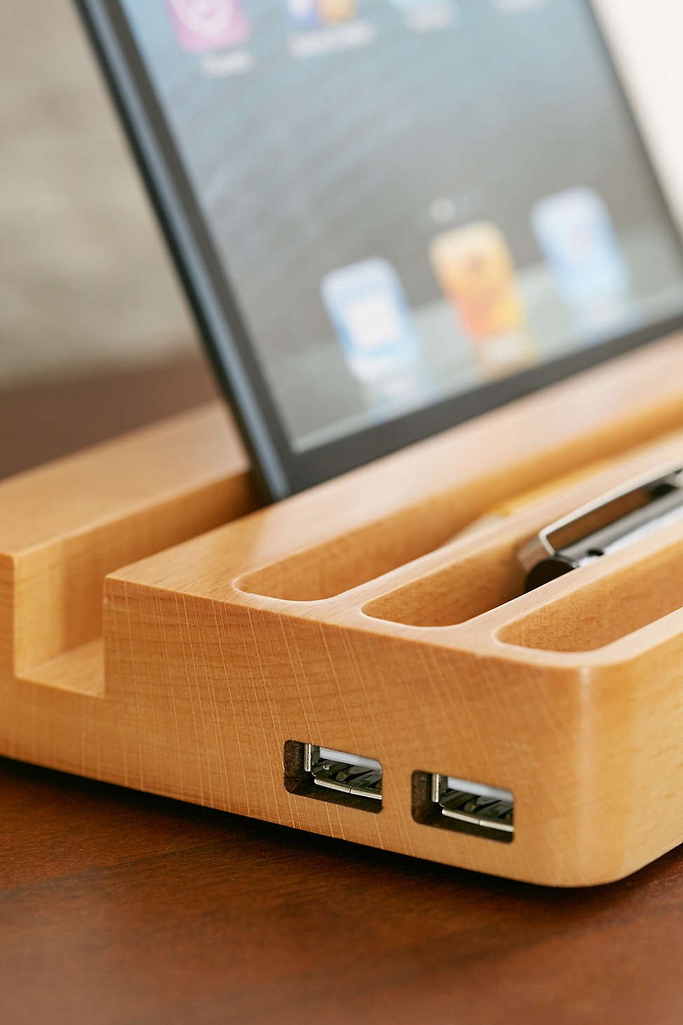 This beautiful charging station will optimize time and space.