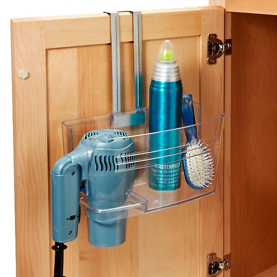 Your hair products within easy reach. Via The Container Store.