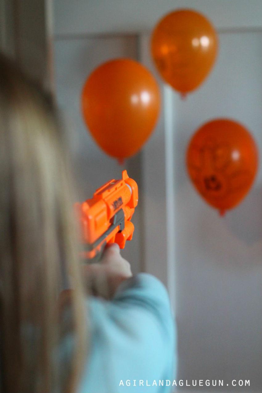 Nerf gun turkey shooting game. Fun, fun, fun. Image Source: A Girl and a Glue Gun