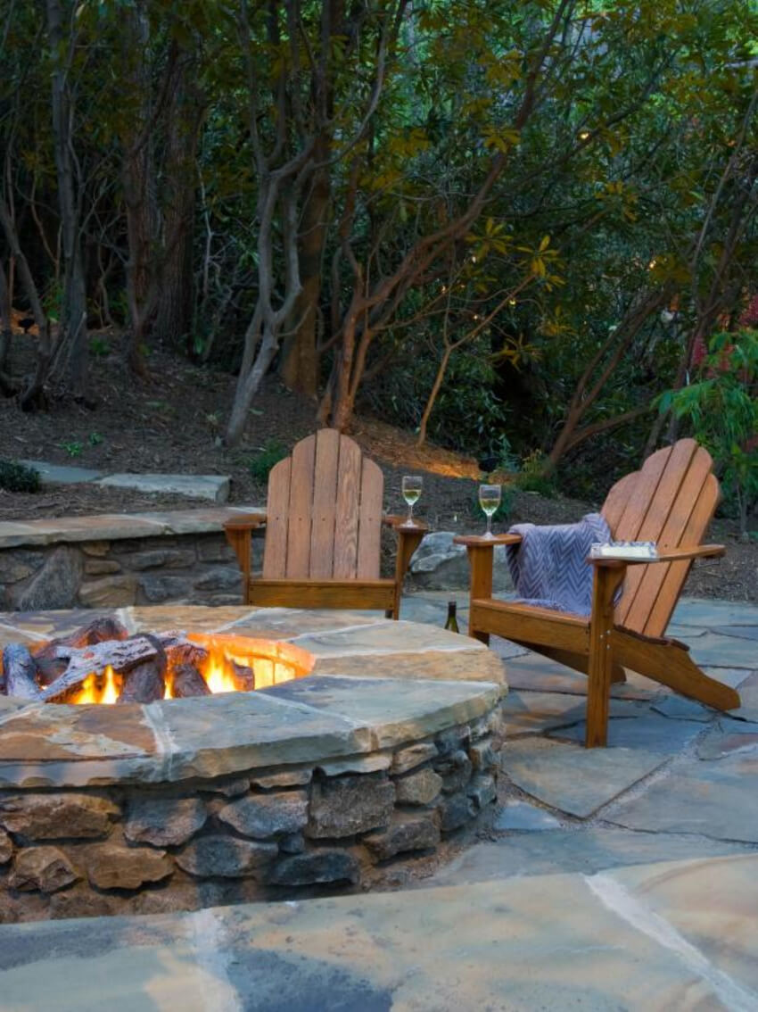 Natural stone is perfect for fire pits. Source: Home Design 121