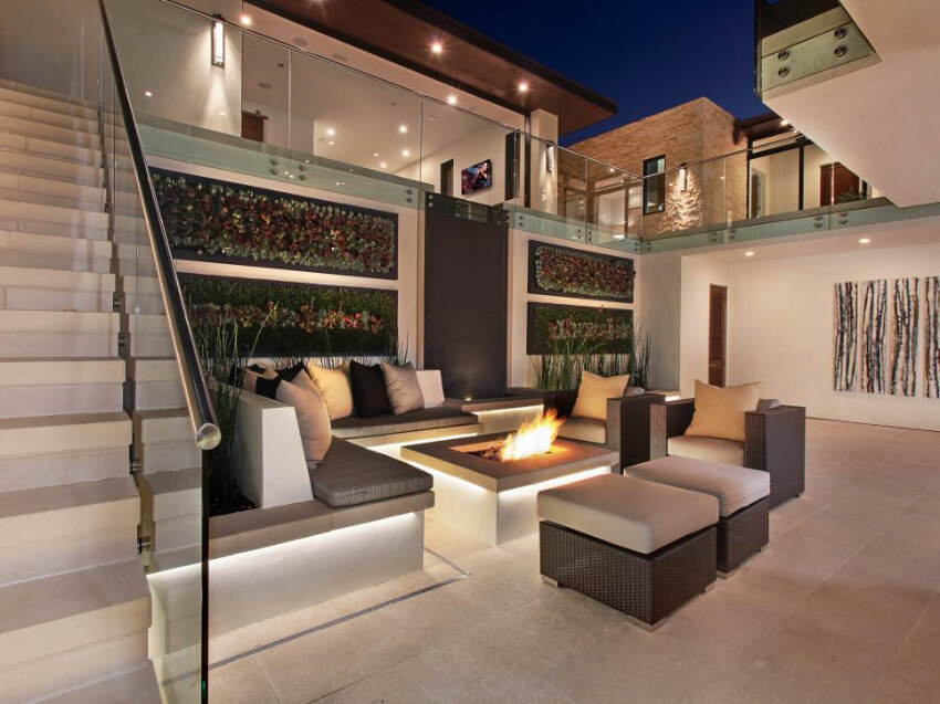 A built-in fire pit can be perfect for your home. Source: The Truth You Always Knew