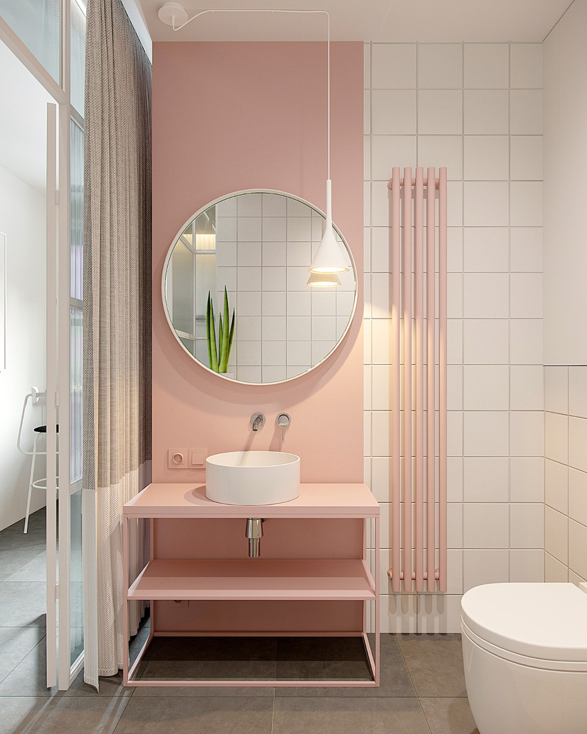 Pink looks beautiful even in the most modern designs. Source: Home Designing