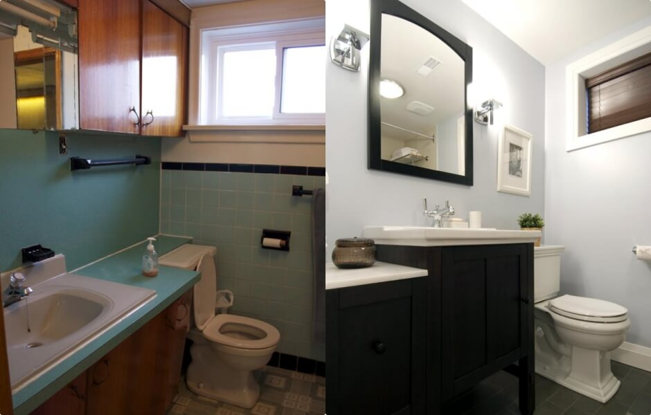 This bathroom was in desperate need of a revamp!