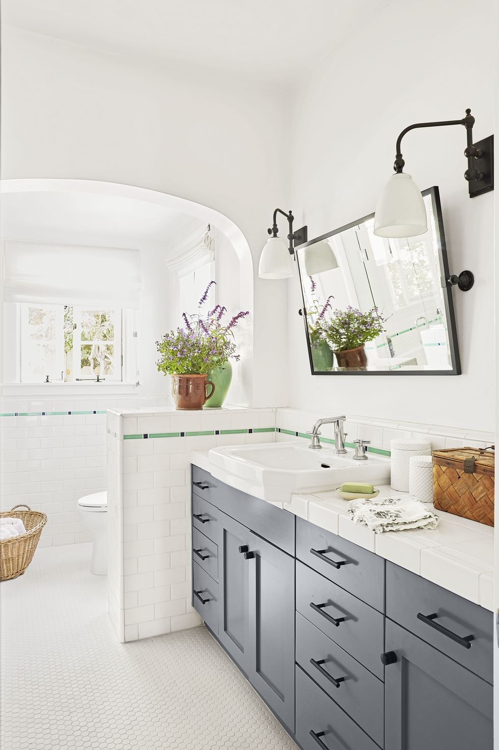 Subway tiles can work on walls, backsplashes, and even countertops. Source: Country Living