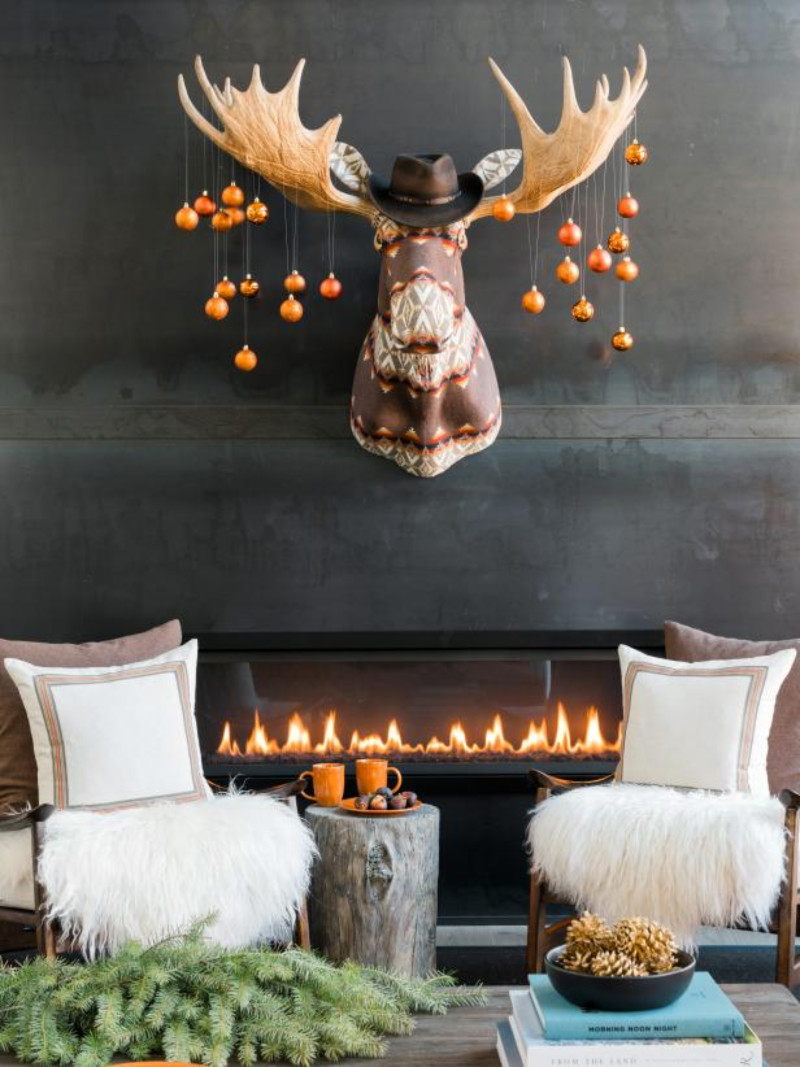A country look that makes the space feel much warmer. Source: HGTV