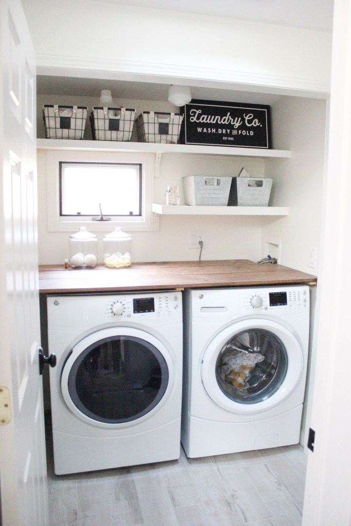 Adding shelves can make your laundry room more practical