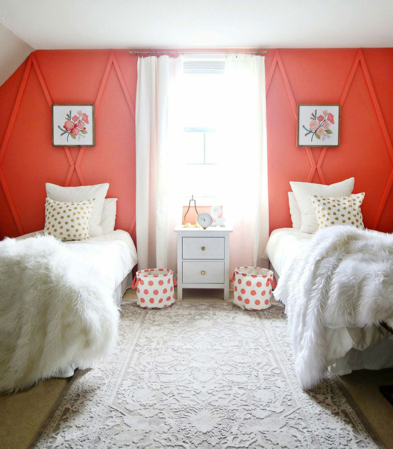 A vibrant color on the walls is also a nice touch. Source: Cleveland